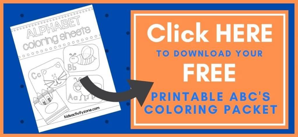 Alphabet Coloring Pages Printable Button
