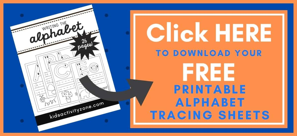 Alphabet Tracing Sheets Printable Button Image