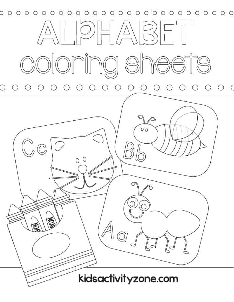 Main Cover Image for ABC Coloring Sheets
