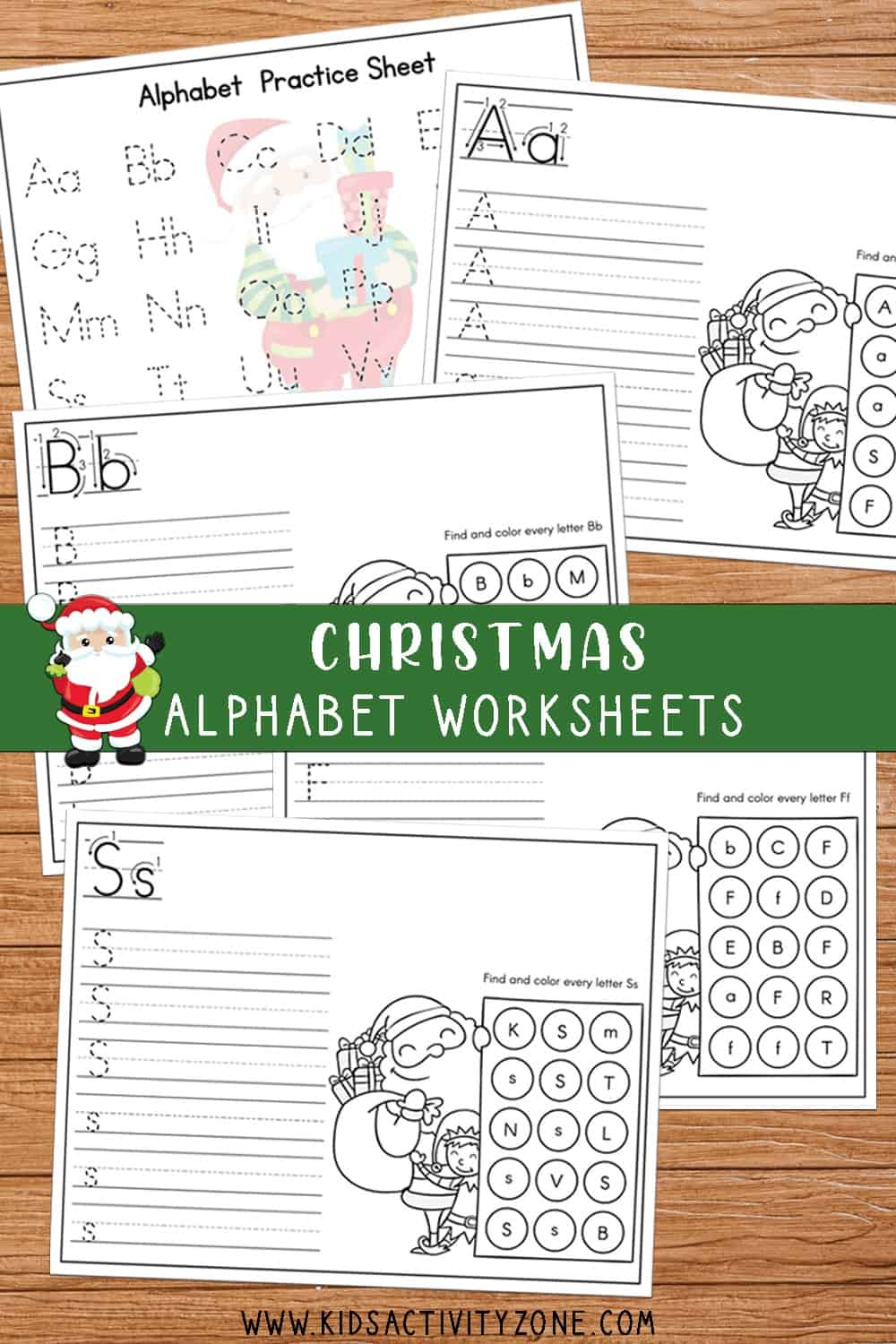 These free alphabet tracing worksheets are Christmas themed for a fun and festive way to teach children how to make their letters. It includes a master page with every uppercase and lowercase letter to trace plus individual pages for each letter.
