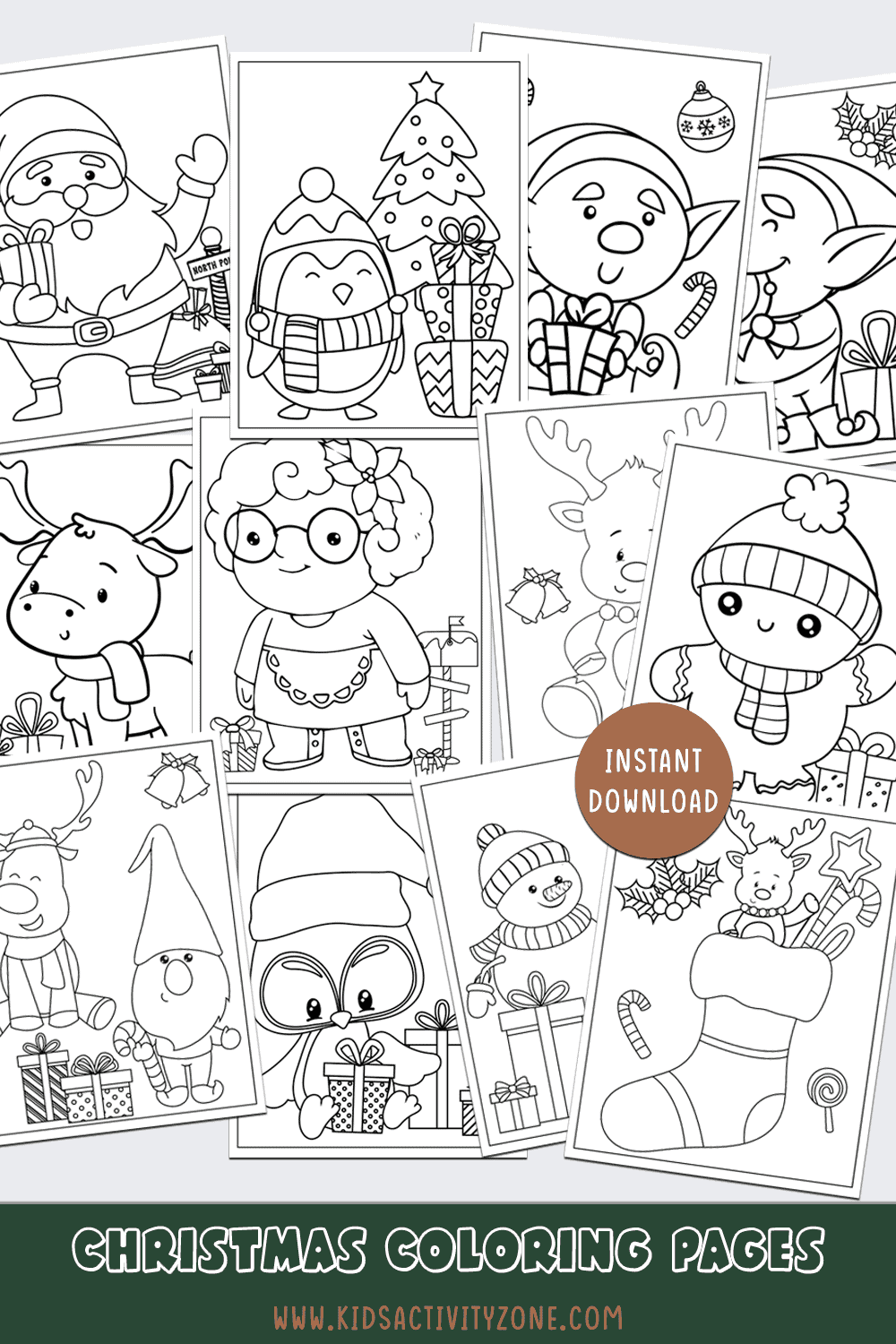 Collage of Christmas Coloring Pages Image