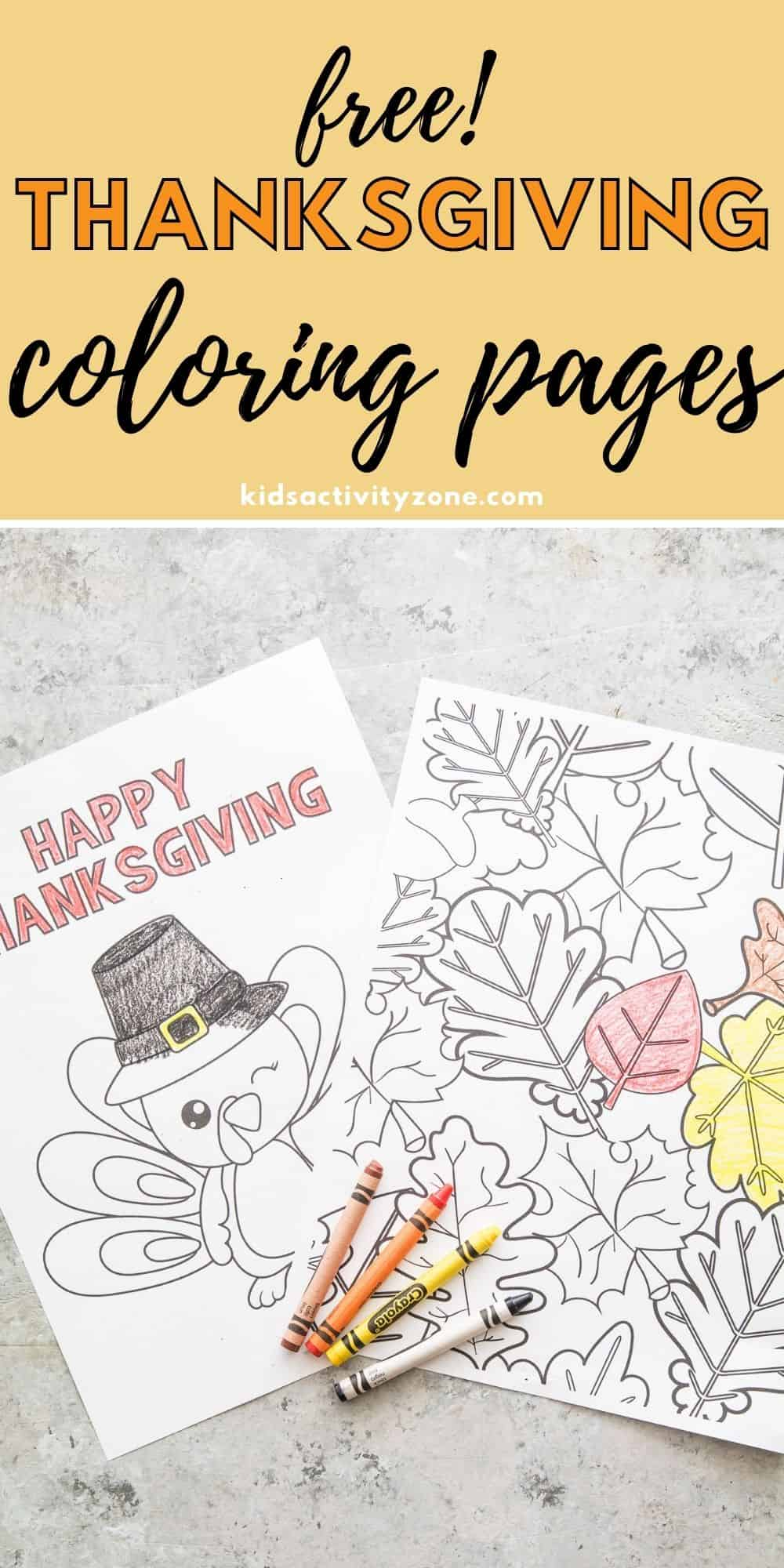 This is the perfect quick and easy activity for kids and adults during the holidays. These Free Printable Thanksgiving Coloring Pages are great for parties and holiday meals.