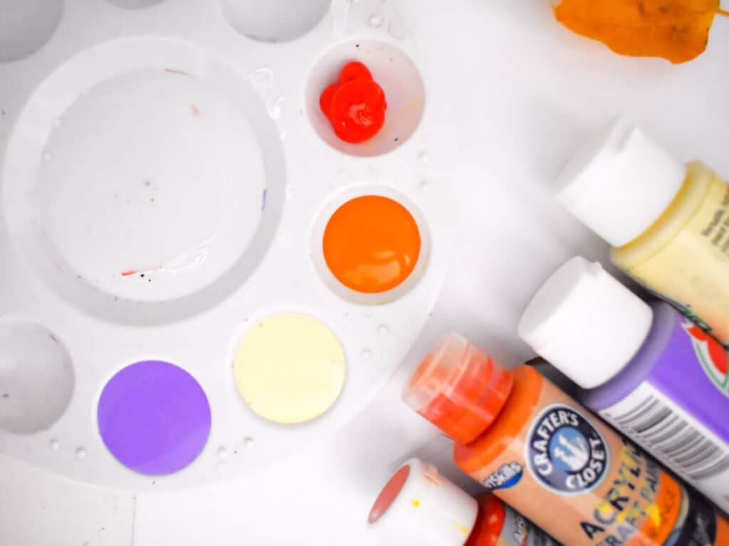 Paint in paint tray