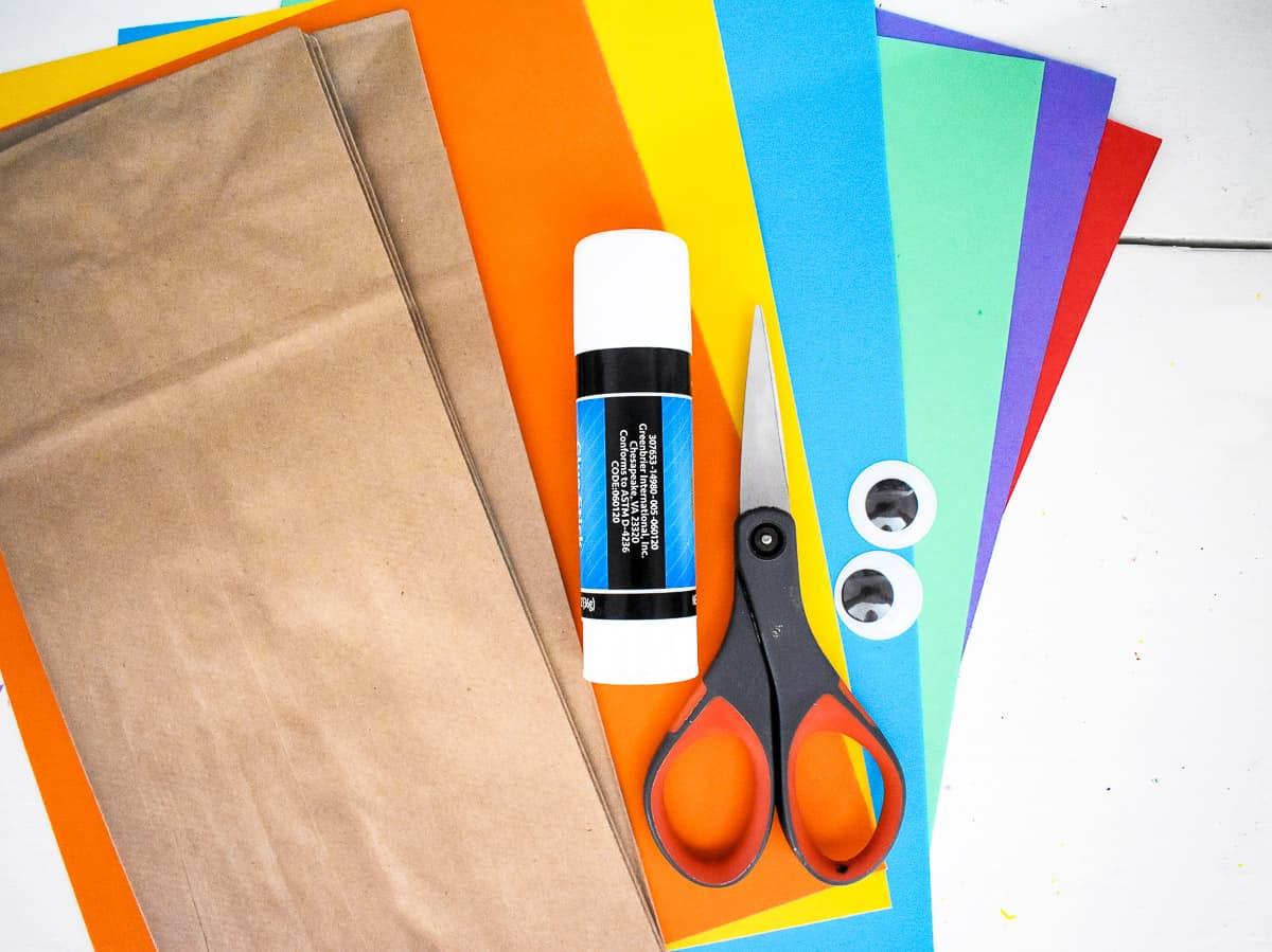 Turkey Paper Bag Craft Supplies