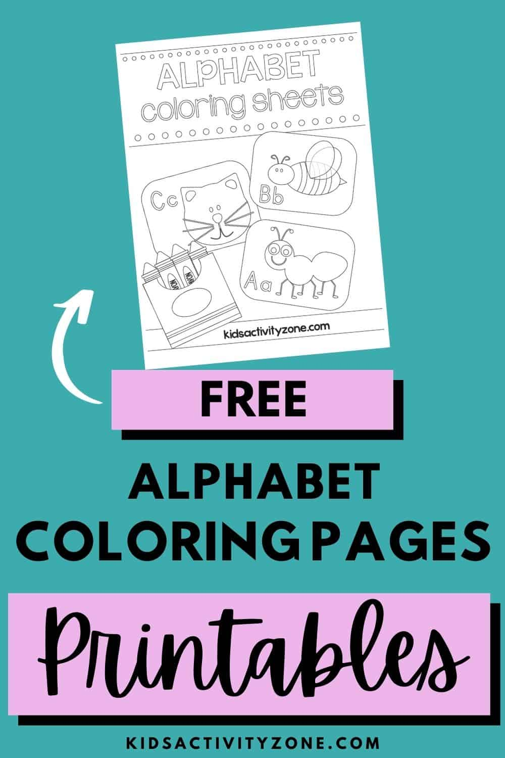Learn all the letters and have fun with these free printable alphabet coloring pages! Coloring Pages are great for learning as they are engaging and helps improve fine motor skills for children.