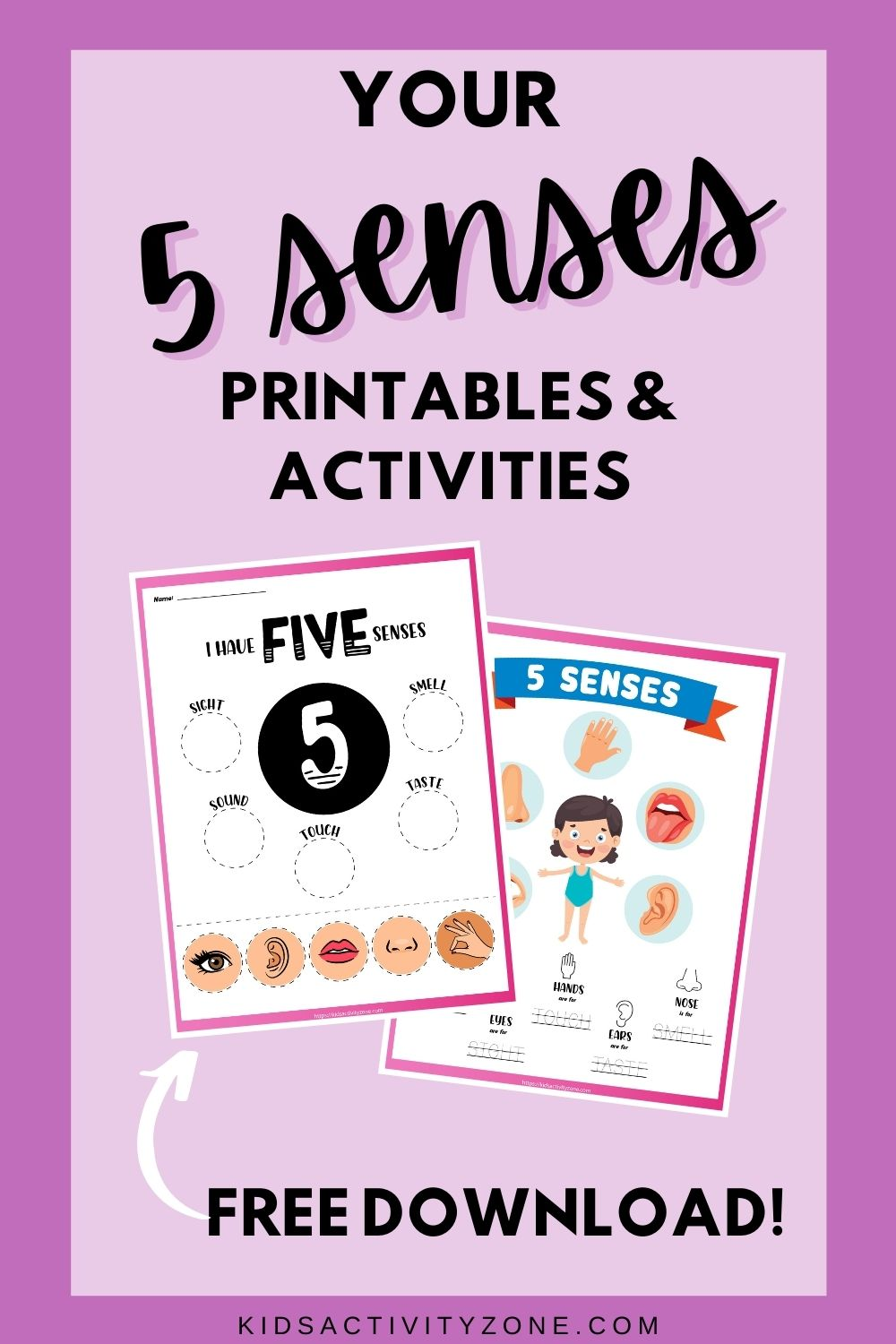 The five sense are one of the first and best resources for preschoolers to learn. They help children explore the world around them and also help make sense of what's around them. Here are some fun activities to pair with learning about your 5 senses! These free printables and activities are perfect for toddlers, preschool aged children and kindergarteners.