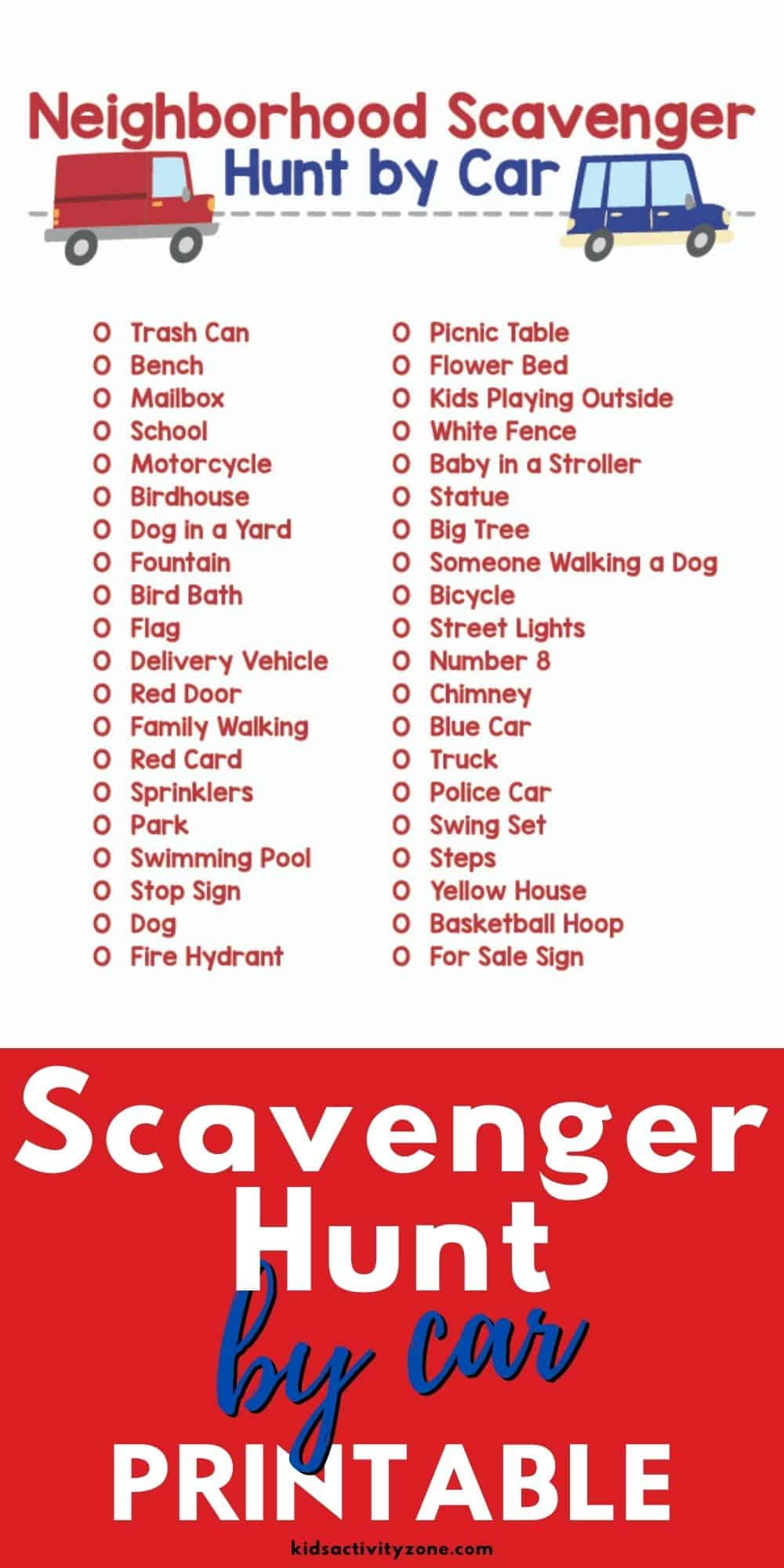Stuck inside and going crazy? Hop in the car and do this fun Scavenger Hunt by Car as a family! It's a free, fun activity that you can do with your family. Great if your kids are going stir crazy!