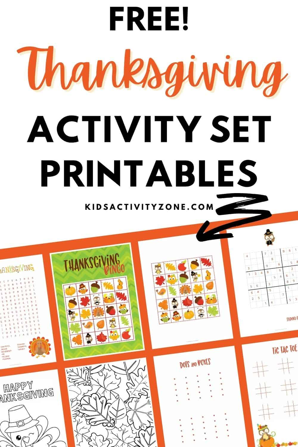 Looking for Thanksgiving printables! This FREE Thanksgiving Activities Printable Set is what you need. It's great for the classroom, Thanksgiving gatherings and more. The set includes Bingo, tic tac toe, dots and boxes game, Sudoku puzzles and more. There's something for everyone.