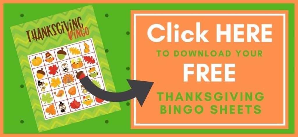 Thanksgiving Bingo Printable Button Image