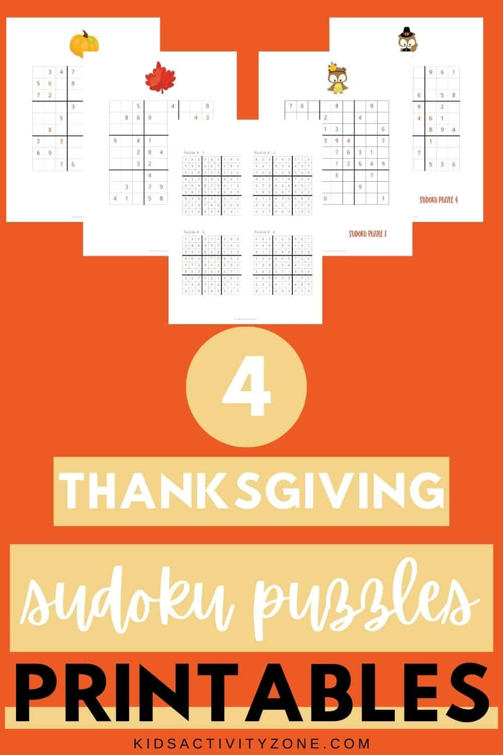 Free printable sheets for Thanksgiving Sudoku plus answer keys! This is a fun activity for kids parties or a great way to entertain your guests at your Thanksgiving holiday. Set a time and make it a competition to see who wins first!