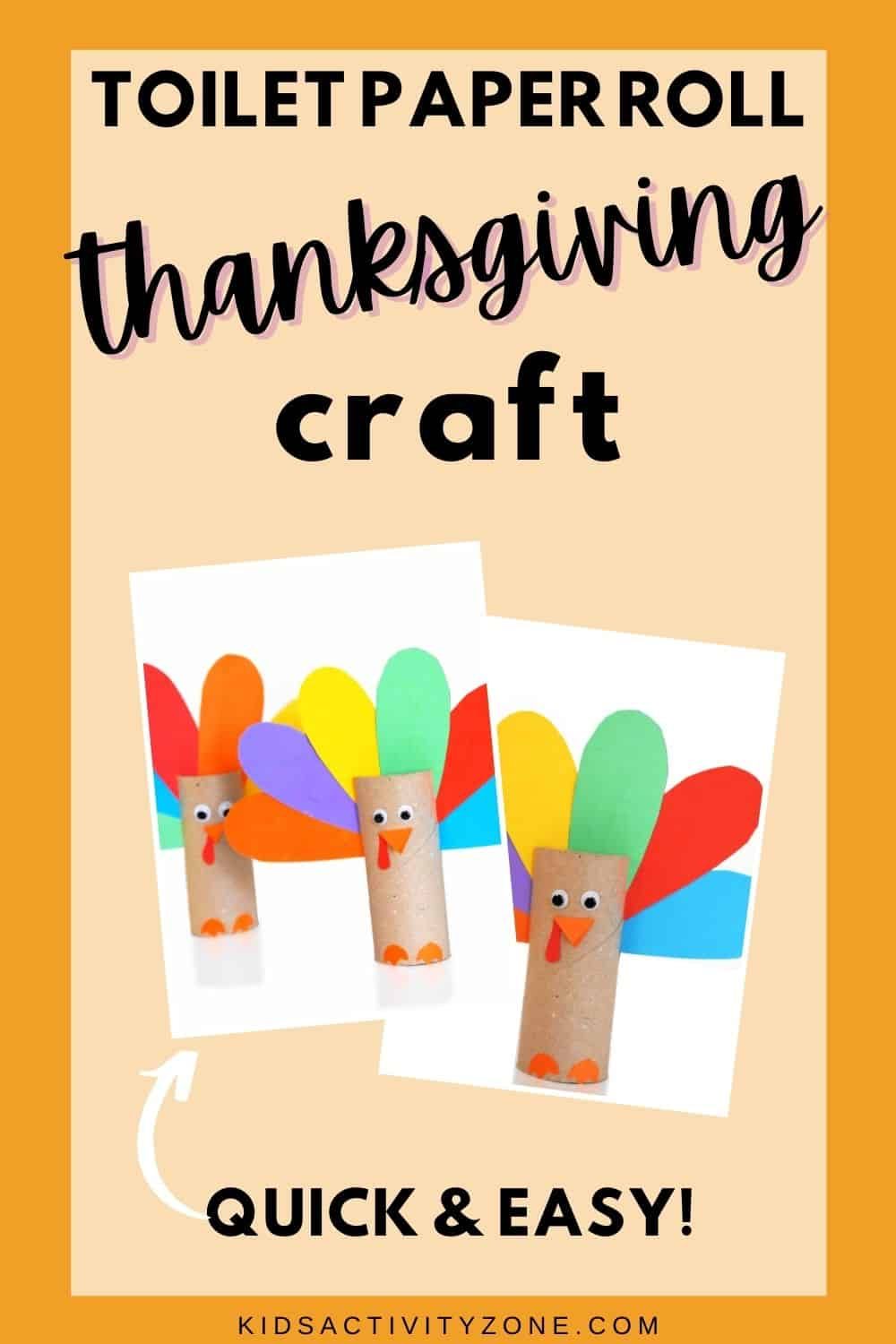 If you need an easy, fun Thanksgiving craft this cute Toilet Paper Roll Turkey craft is what you are looking for. Kids will love cutting out the feathers in different colors of construction paper and then assembling the turkey!