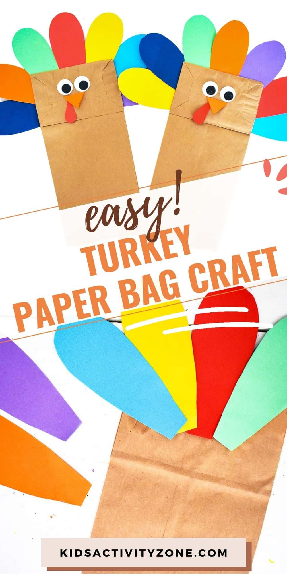 Grab your paper bags and make these adorable Turkey Paper Bag Craft! You only need common materials that are already in your house. With minimal prep and clean up this cute Thanksgiving craft is perfect for doing on the weekend or for classroom parties and activities!