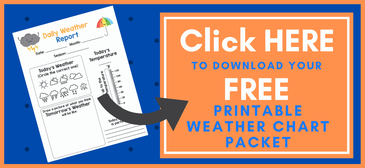 Weather Chart Printable Button