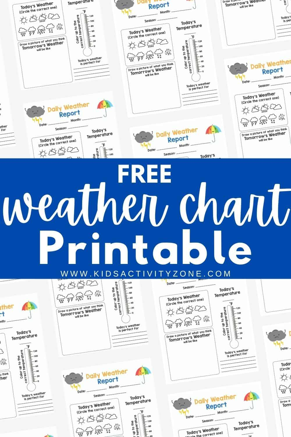 Free Weather Journal Printable for elementary aged children included sheets for daily and weekly forecasting. It's the perfect additional to any studies on the weather. You can track today's weather, predict tomorrow's weather and more with these free printable download.