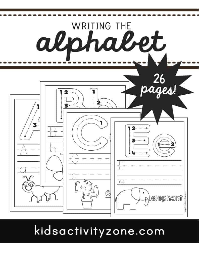 Alphabet Tracing Worksheets Main Image