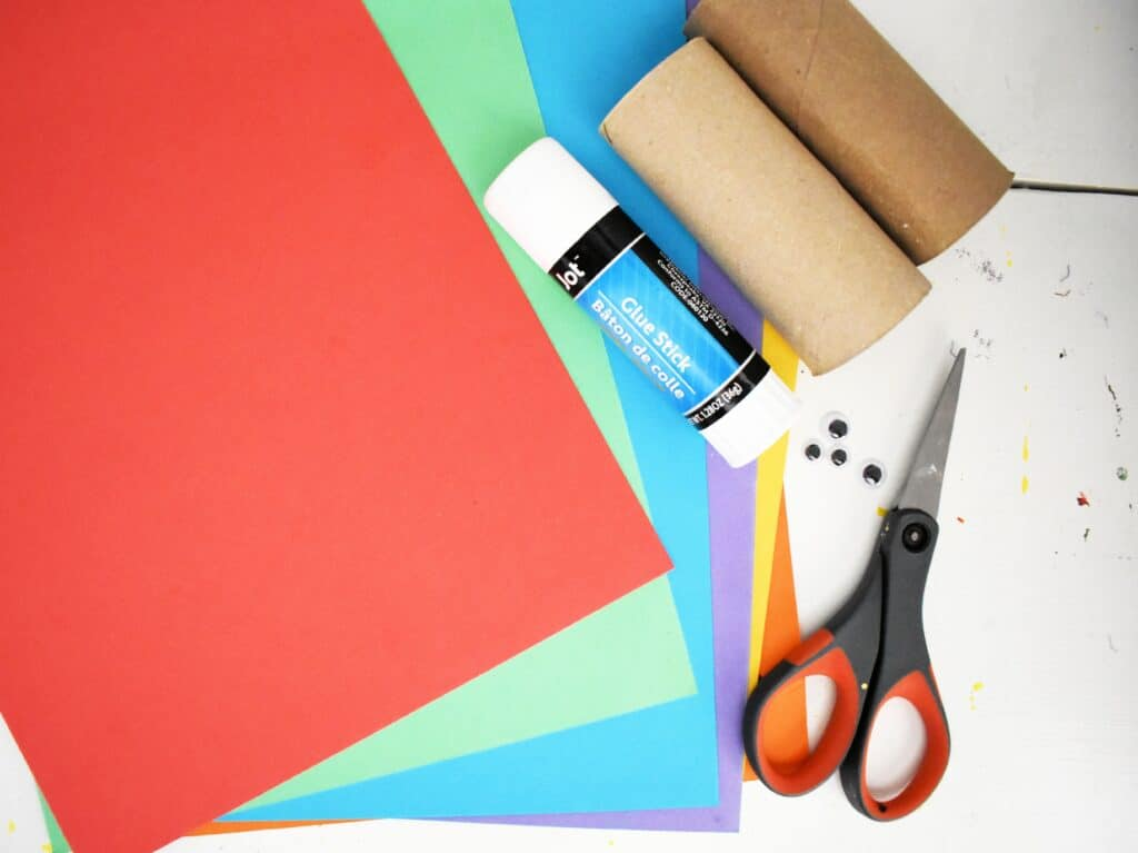 Supplies for Toilet Paper Roll Turkey Craft