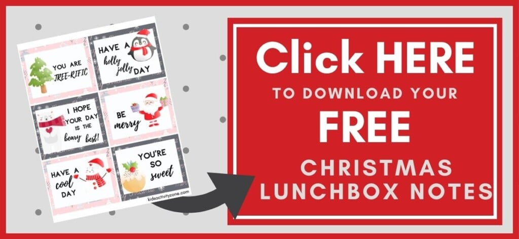 Christmas Lunchbox Notes Printable Button