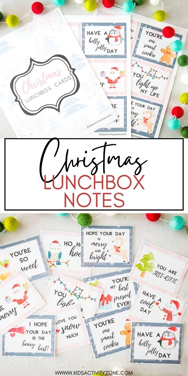 Send a sweet message from home in you children's lunchboxes with these fun and free printable Christmas Lunchbox Notes! Every child will enjoy a this special touch in their lunchbox.