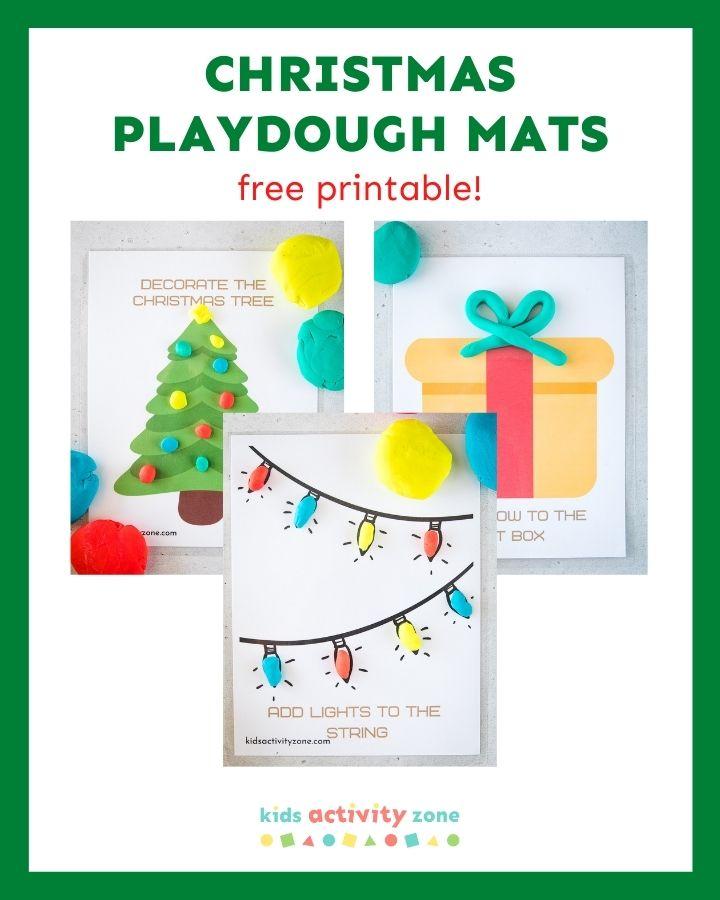 Christmas Playdough Mats - Featured Image Template