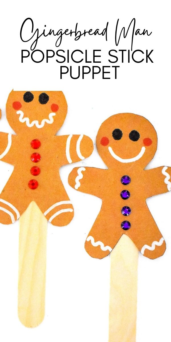 Gingerbread Man Puppets are an easy kids craft that's great for Christmas. If you are having a Gingerbread Themed class party it would be a great craft for the kids to participate in!