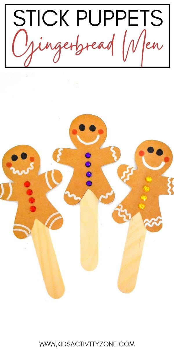There's nothing cuter than the Gingerbread Man at Christmastime! Now, you can make these cute and easy Gingerbread Man Puppets! Simply trace and cut out the pattern for the Gingerbread man, decorate and glue on a craft stick for and easy stick puppet!
