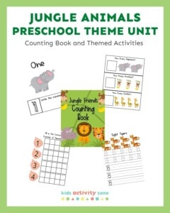 Jungle Animals Preschool Unit - Counting Book Featured Image