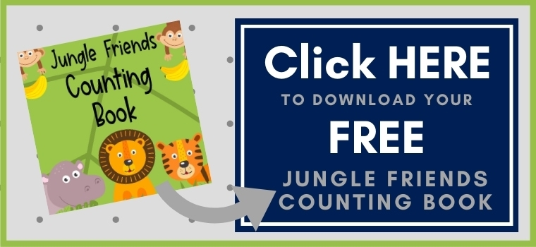 Jungle counting book Printable Button