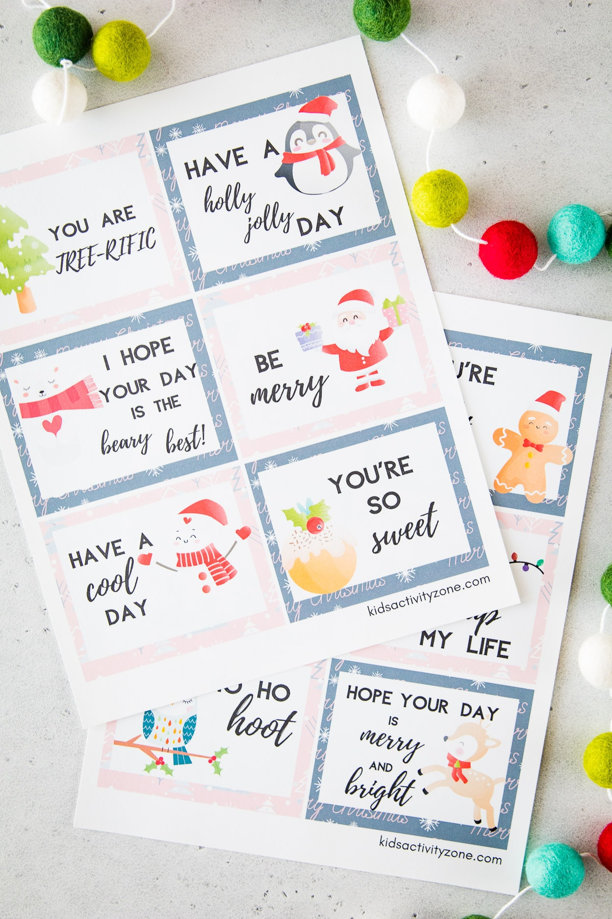 Lunchbox Notes for Christmas on light display