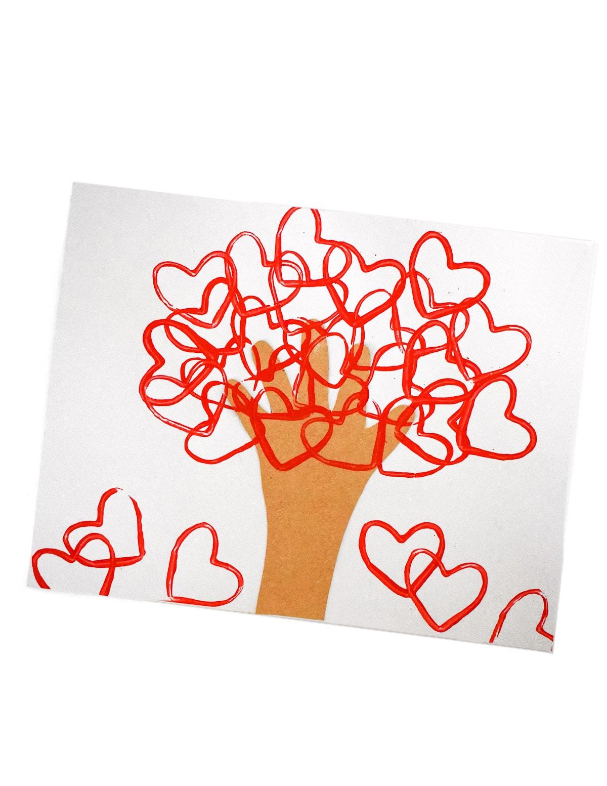 Handprint Valentine's Day Craft