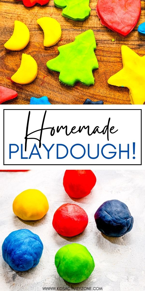 Making your own Homemade Playdough is so easy plus it's cheap! The best is that it will last up to three months when it's stored correctly. It only requires a few ingredients already in your pantry and is super soft and stretchy just like you want!