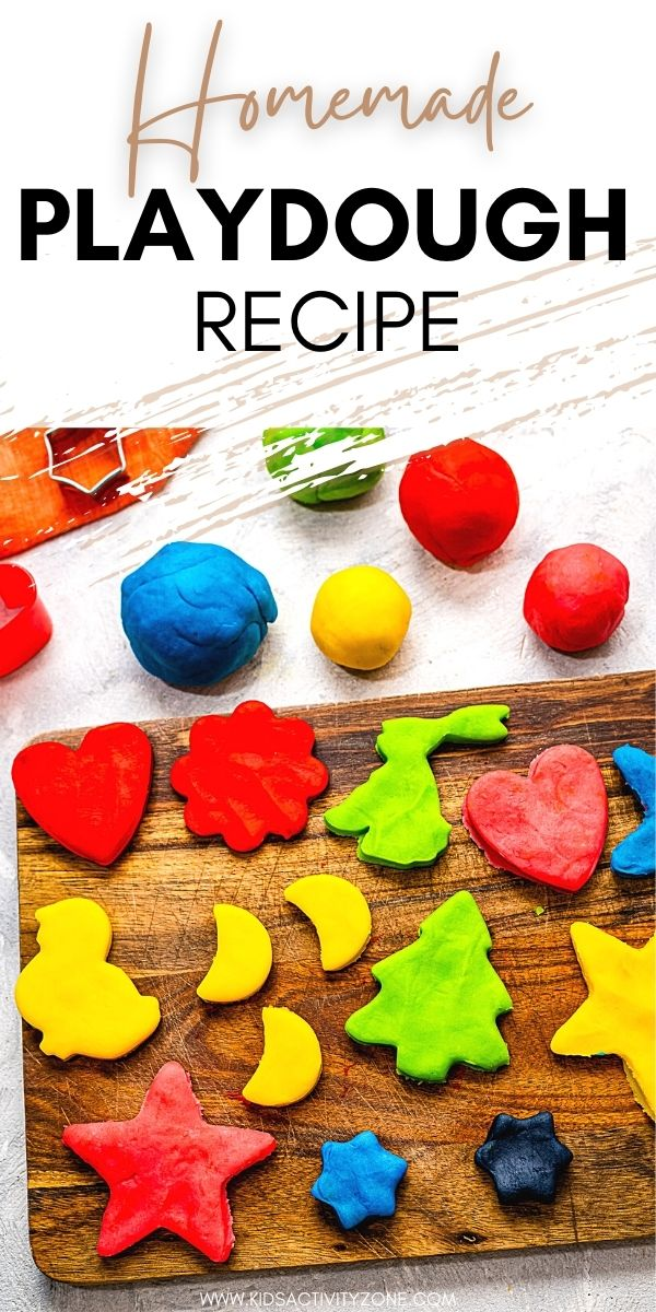 The best homemade playdough recipe! Perfectly soft, stretchy and lasts up to three months. It's easy to make with this recipe and you can dye it any color you'd like or even add glitter or different scents. Super inexpensive to make!