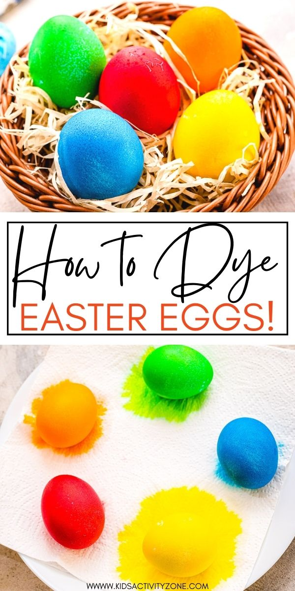 Quick and easy step by step instructions on how to dye Easter Eggs at home with no kit. You only need a few things that you probably already have in your pantry. You'll have bright, vibrant dyed Easter Eggs in little to no time!