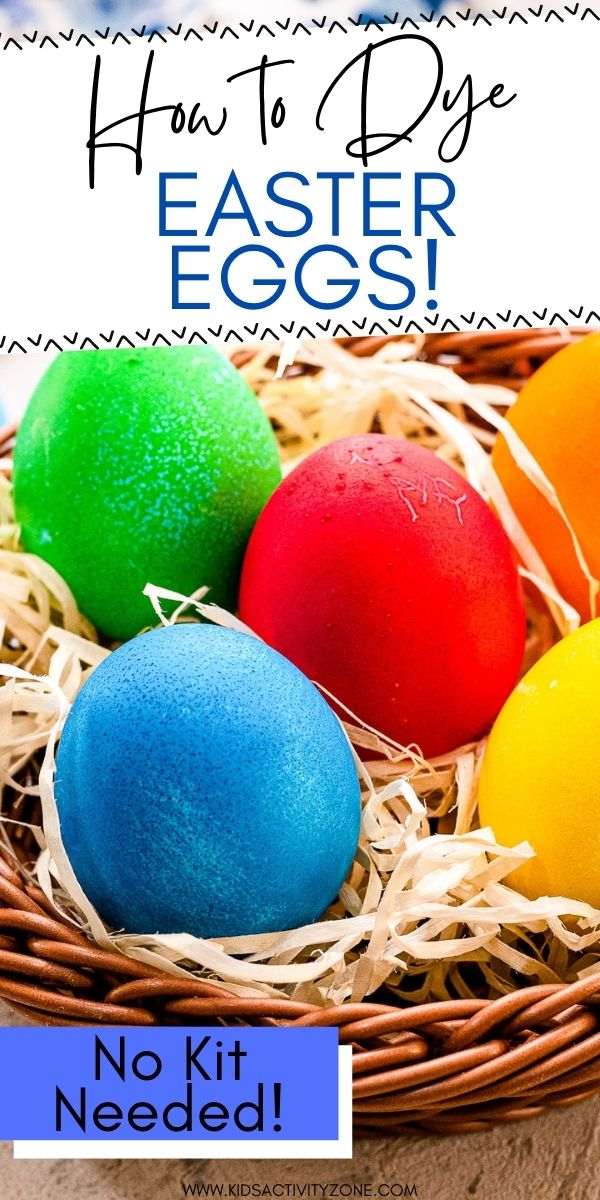 Skip the store bought kit this year and dye your Easter Eggs with pantry staples! Grab your water, food coloring and vinegar to make these vibrant and pretty Easter Eggs. It's so easy and fun to do!