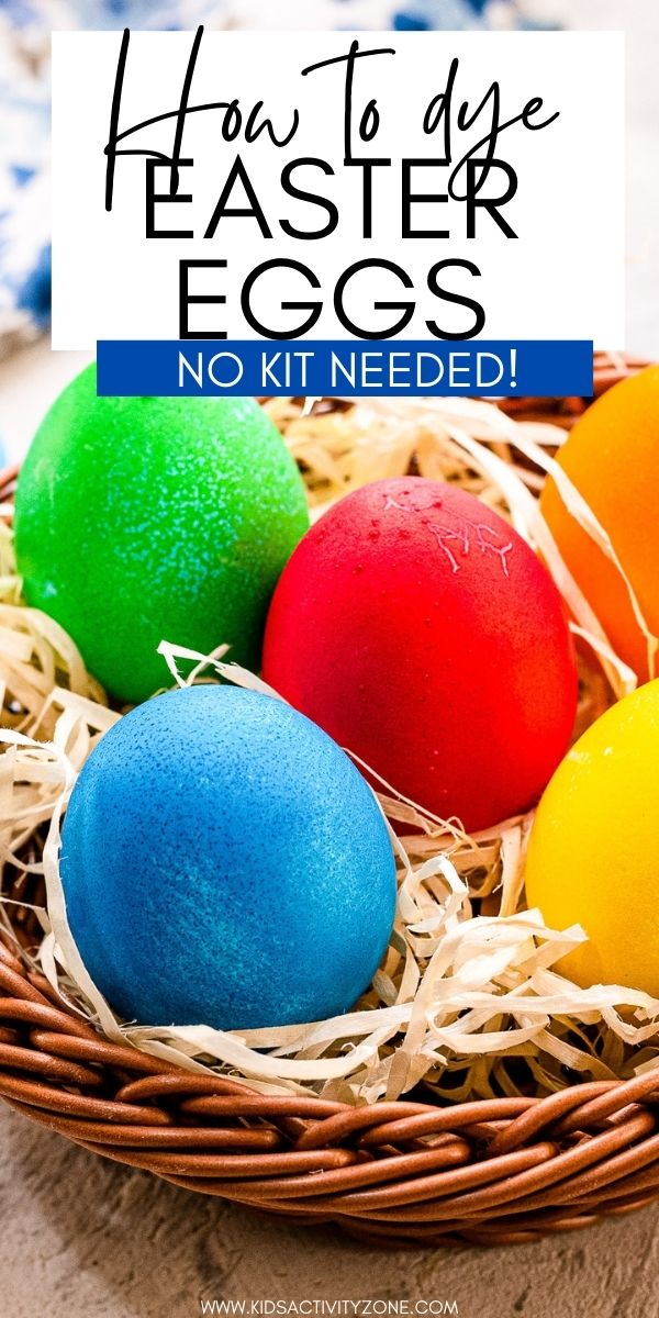 It's not Easter if you don't dye Easter Eggs! Forgot the kit at the store? No worries! All you need is hard boiled eggs, boiling water, vinegar and food coloring to dye eggs for Easter! These Easter Eggs are a pretty vibrant color. All our tips and tricks on how to dye Easter Eggs!