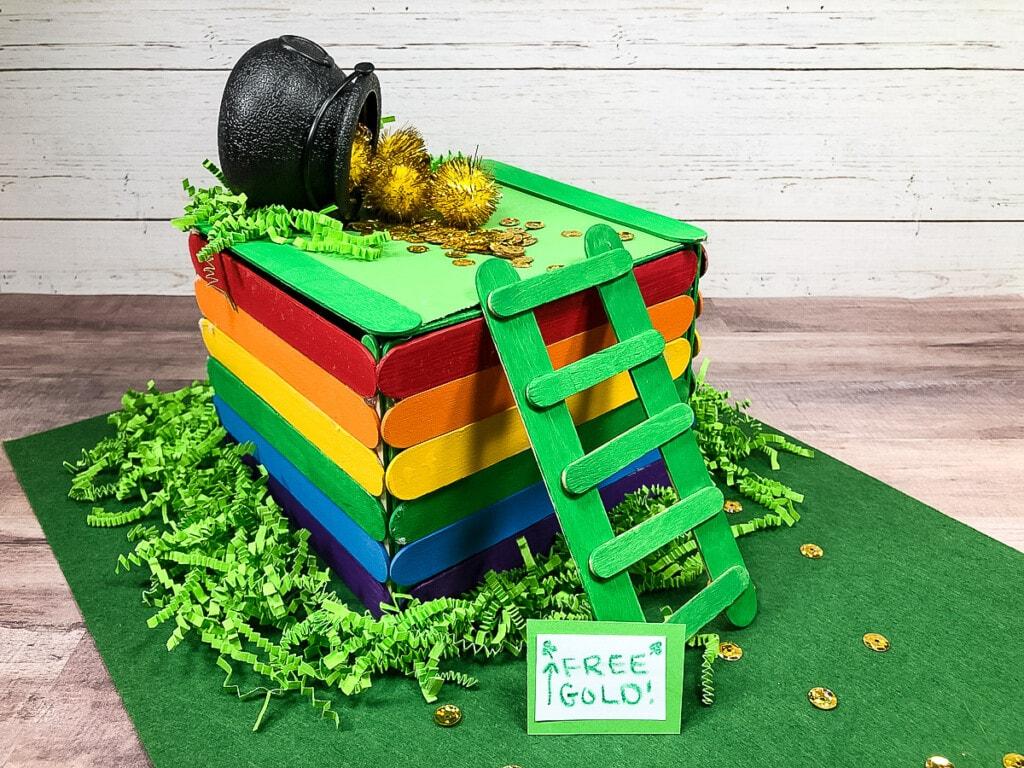 Leprechaun Trap built with popsicle traps