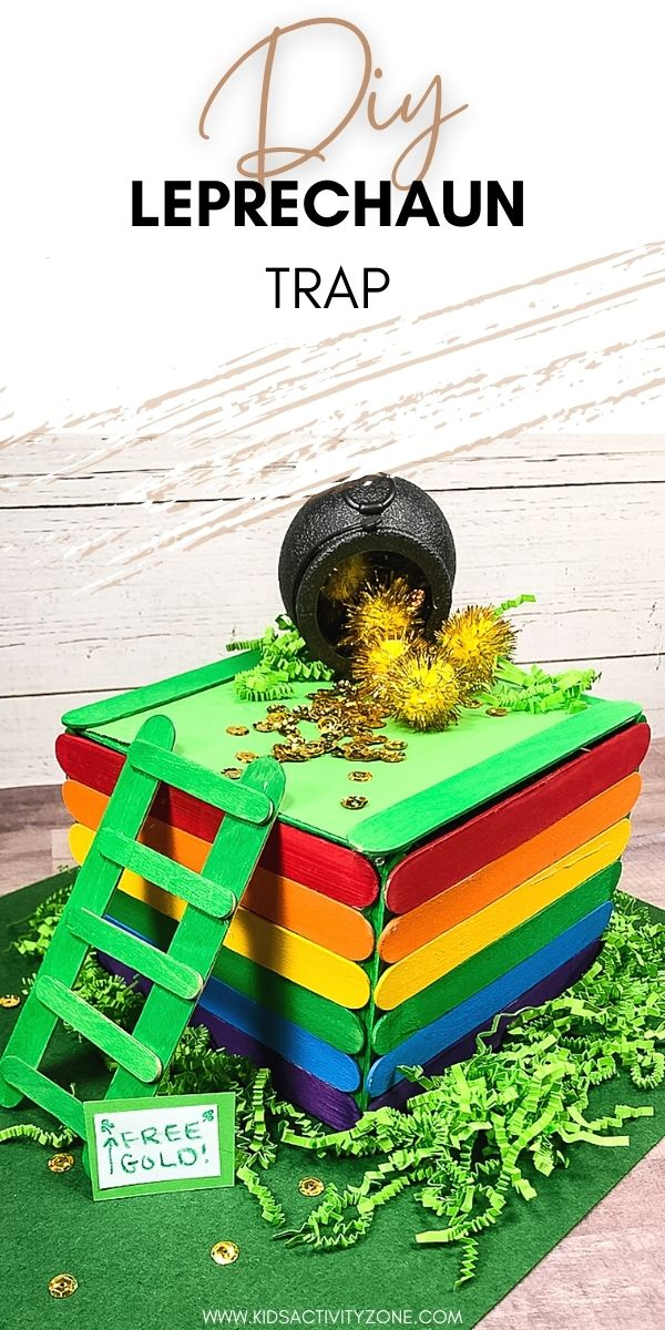 Trying to catch the Leprechaun this St. Patrick's Day? This easy tutorial for a Leprechaun Trap is the perfect activity for kids on St. Patrick's Day!