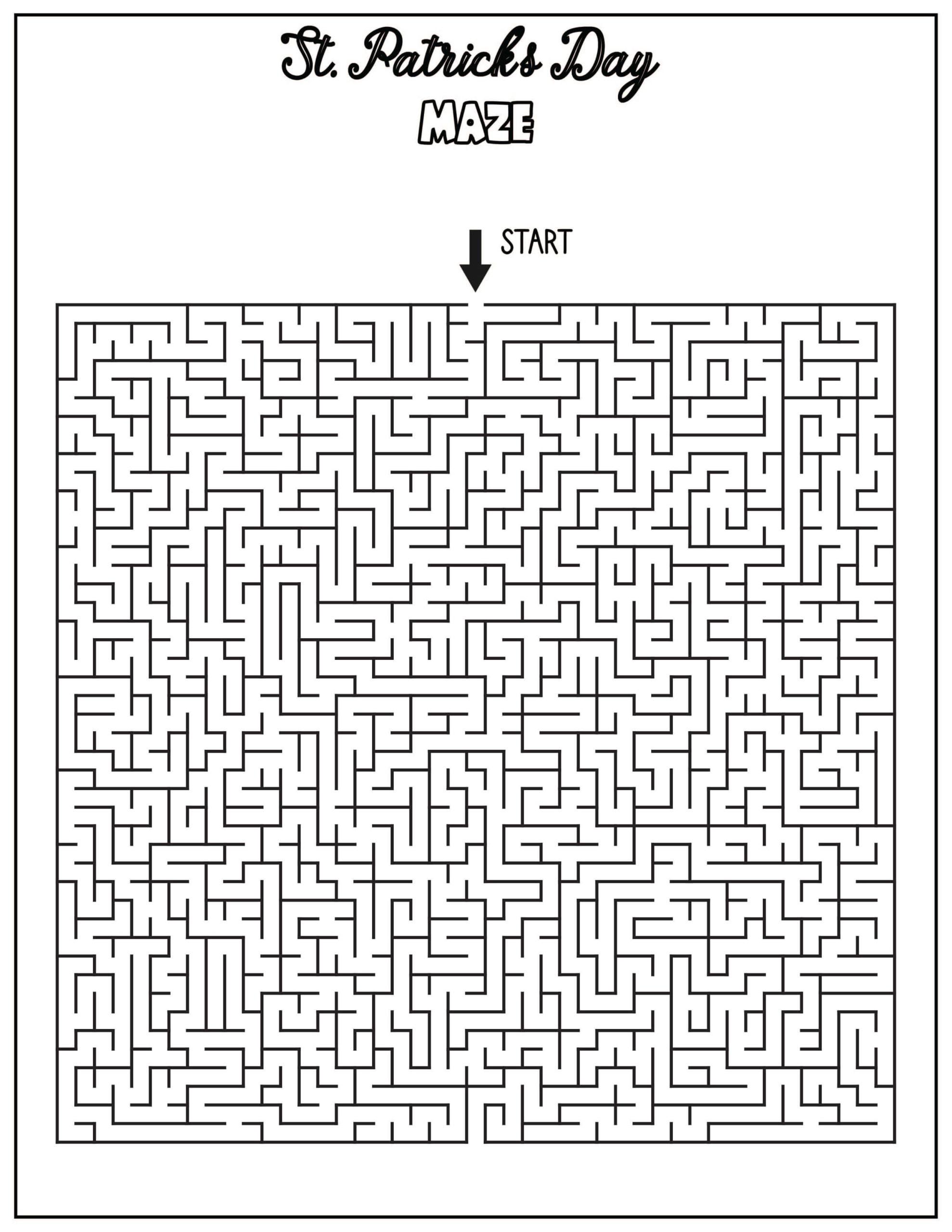 St. Patrick's Day Activity Maze