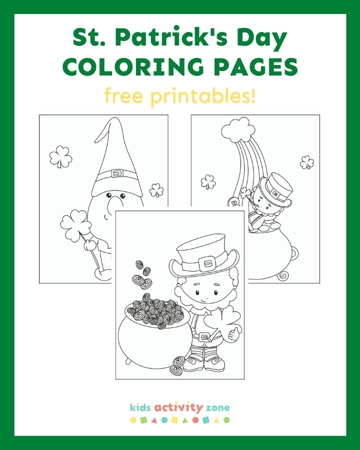 St Patrick S Day Coloring Pages Kids Activity Zone