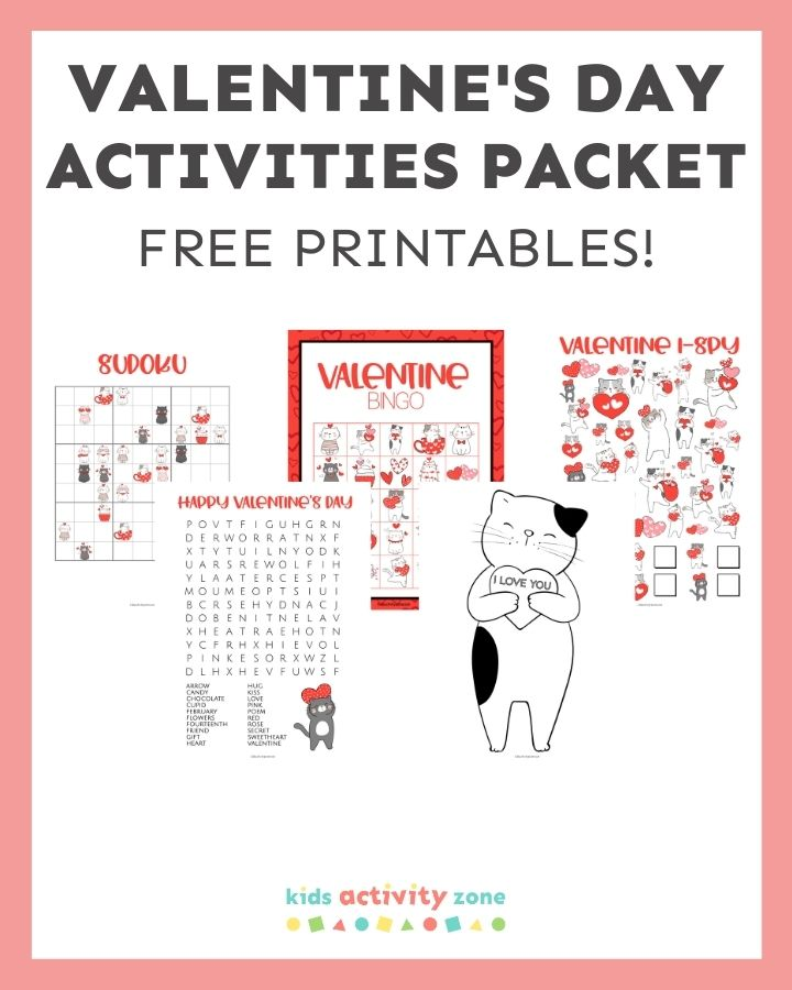 Valentine's Day Activity Packet - Featured Image
