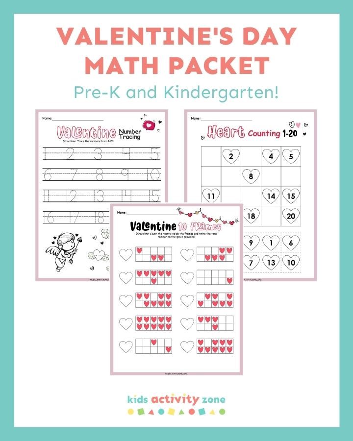 Valentine's Day Math Packet - Featured Image Template
