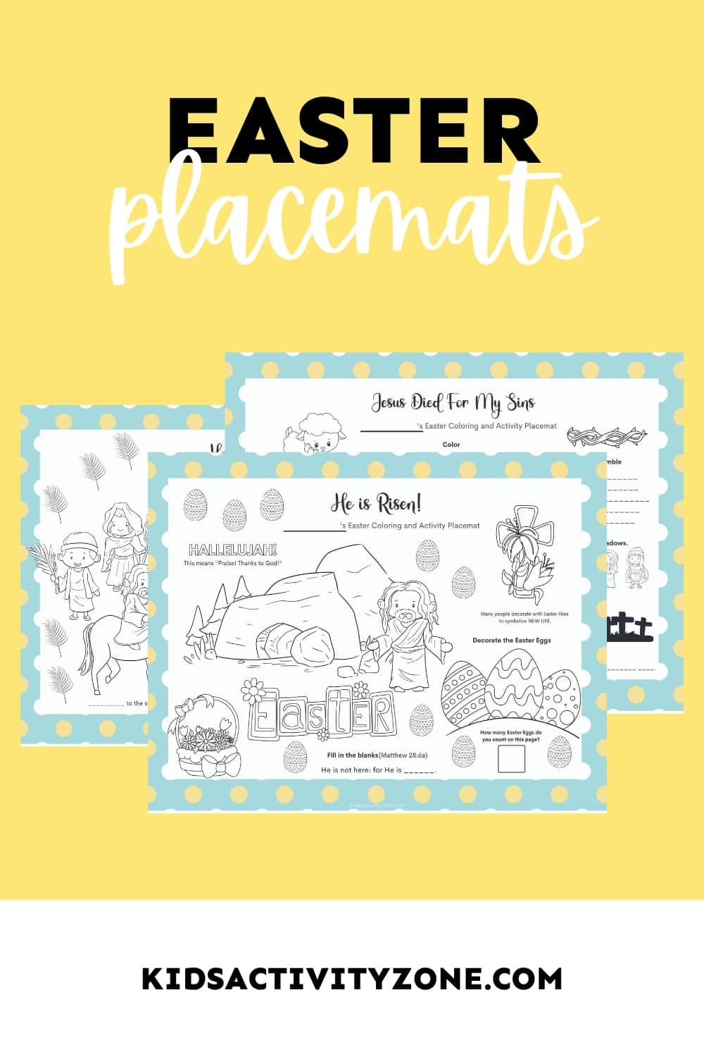 Hosting Easter this year? Print off these cute Easter Placemats that have coloring and activities on them for your dinner table! Grab these Free Printable Placemats that are Christian themed for Easter!