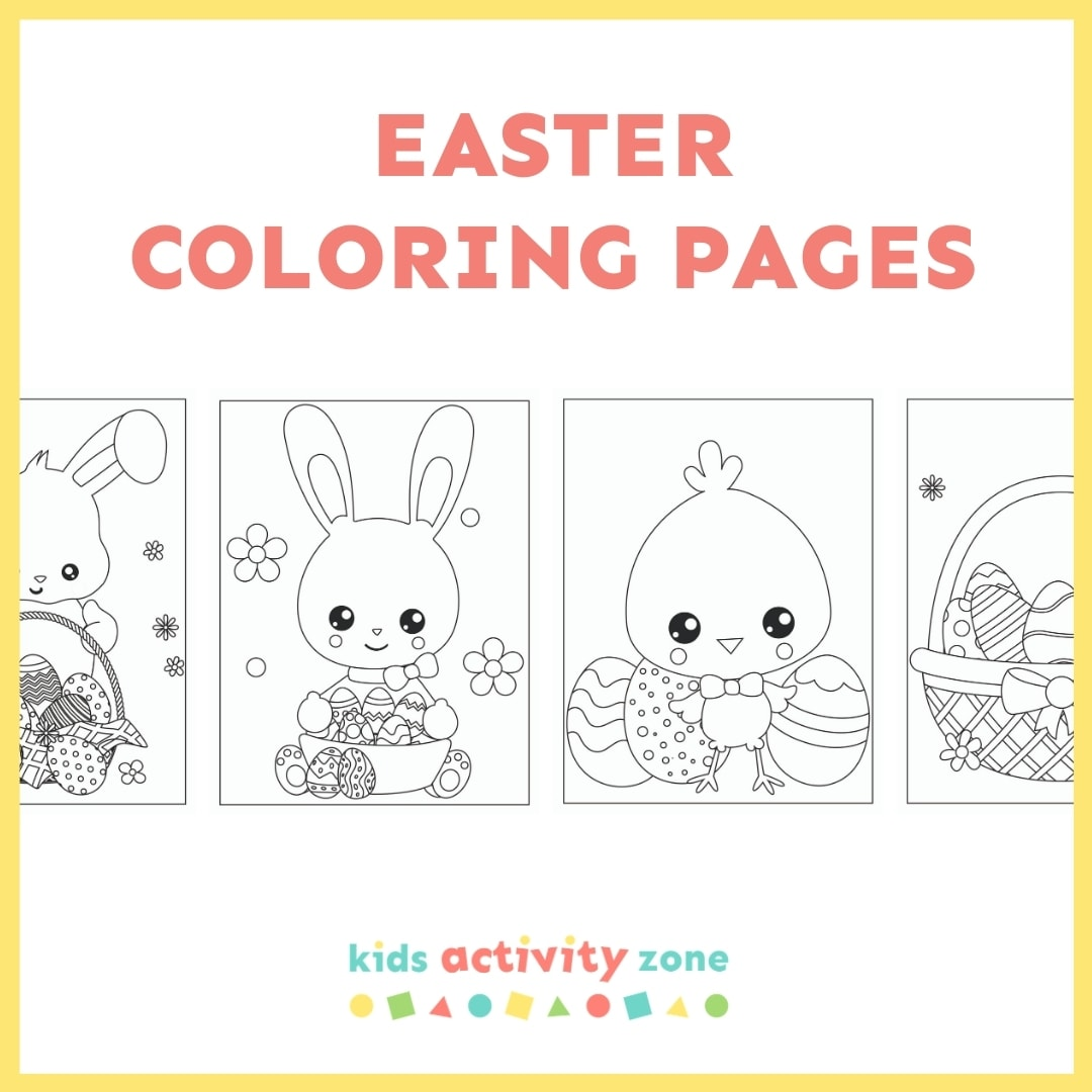 Easter Coloring Pages - Square