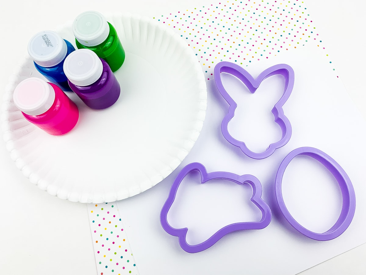 Easter Cookie Cutter Painting Craft Supplies