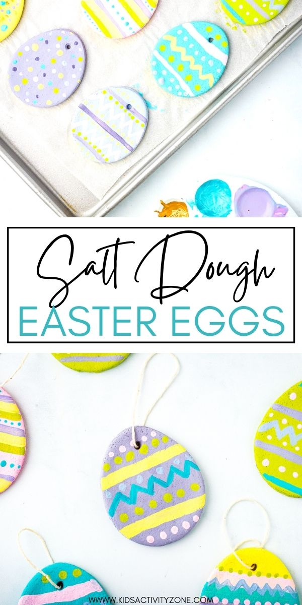 Salt Dough Crafts are always a fun craft for any holiday. These Salt Dough Easter Eggs are perfect for Easter and decorating your Easter Tree if you have one! Don't have an Easter Tree? You can hang these around as Easter decorations, give them as gifts to friends and family and so much more. The kids will have a blast making the salt dough and decorating them.