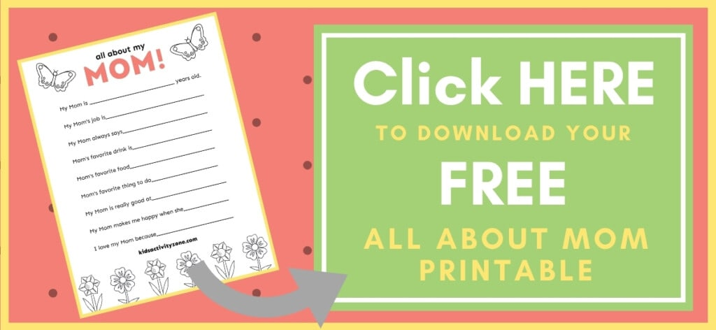 Mother's Day Printable Download Button