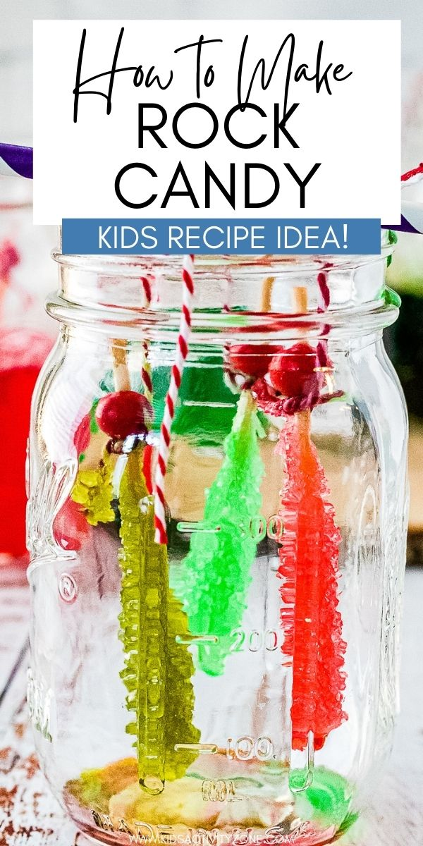 Did you know that making Rock Candy at home is fun to do and easy? That's right! It's the perfect activity for kids and it doubles as a science experiment. Have the kids get creative in the kitchen and try out this fun recipe and treat. Explore the endless colors and flavors you can combine in this easy sugar candy.