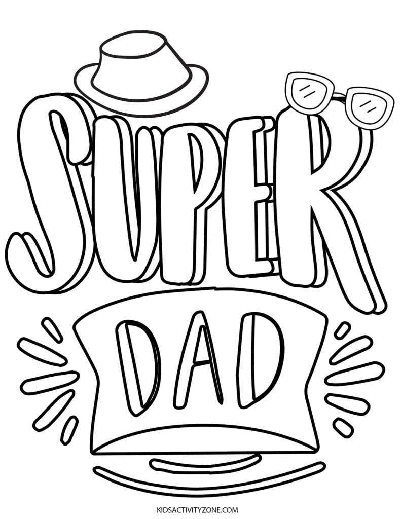 Super Dad Coloring Page