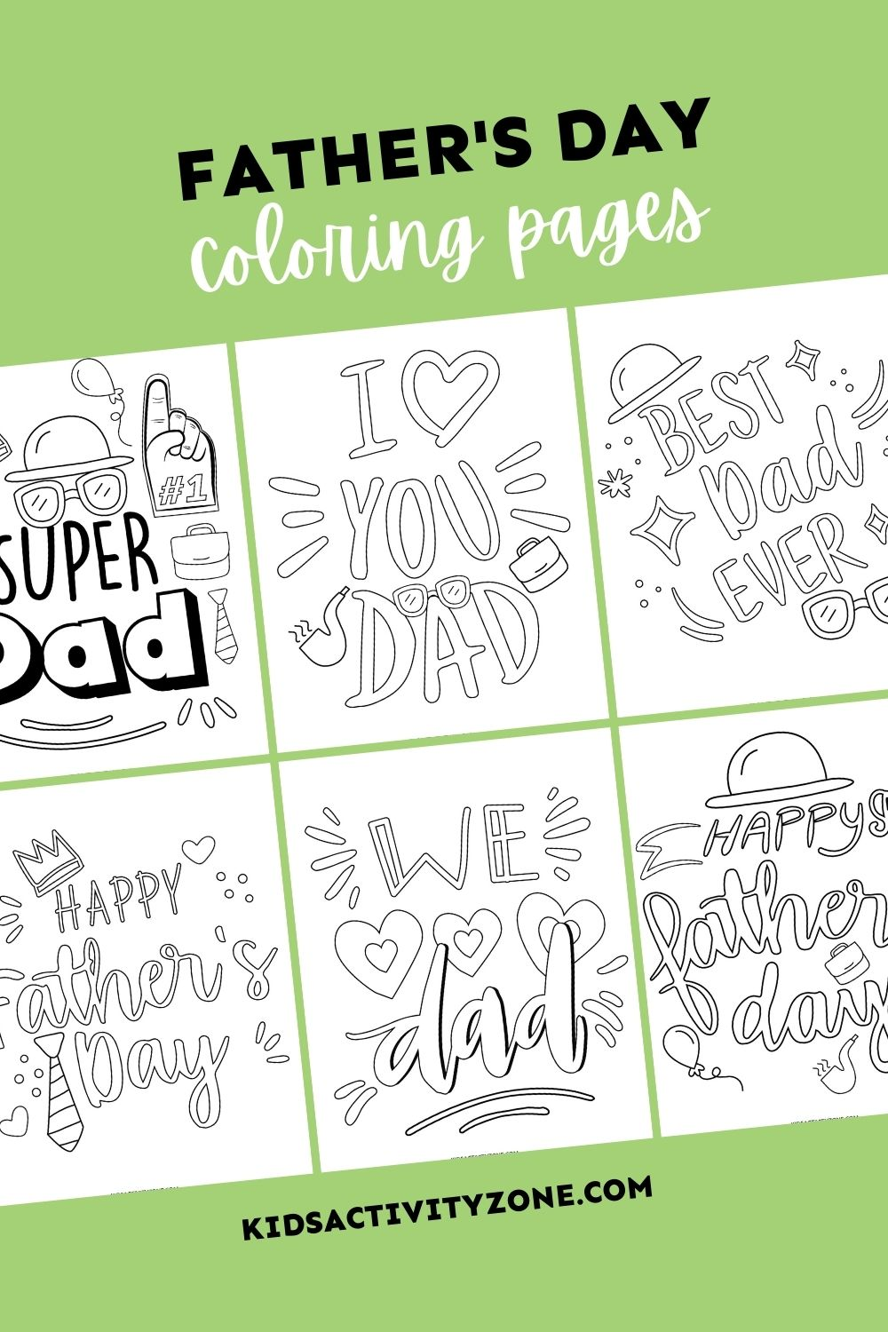 A boredom buster and Father's Day gift all in one! These fun, cute Father's Day Coloring Pages are perfect for kids to work on this summer. Not only do they keep them busy they turn into a gift for Dad on his special day that he will cherish.