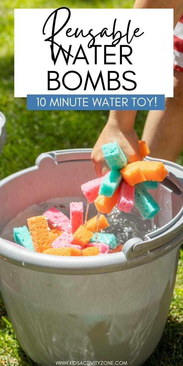 Need a fun way to cool off this summer? Learn how to make reusable sponge water bombs! They are inexpensive and easy to make. Plus, the kids will love playing with them.
