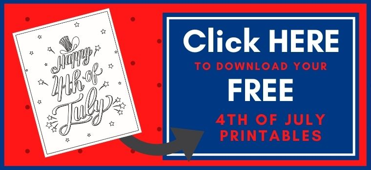 4th of July Printable Button